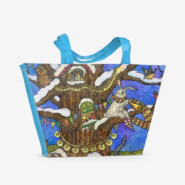 Пляжная сумка «Веселый Новый год»