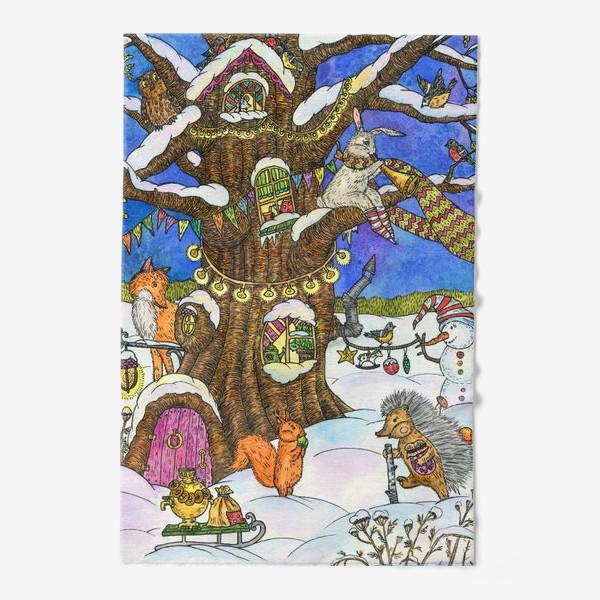 Полотенце «Веселый Новый год»