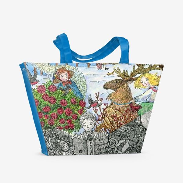 Пляжная сумка «Снежная королева»