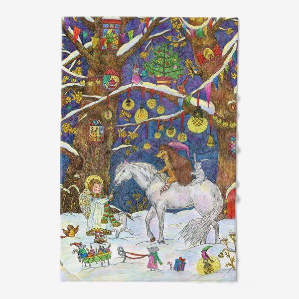Полотенце «Рождество в сказочном лесу»