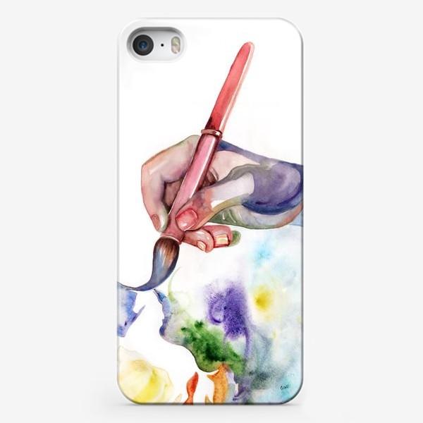Чехол iPhone «Рука творчества»