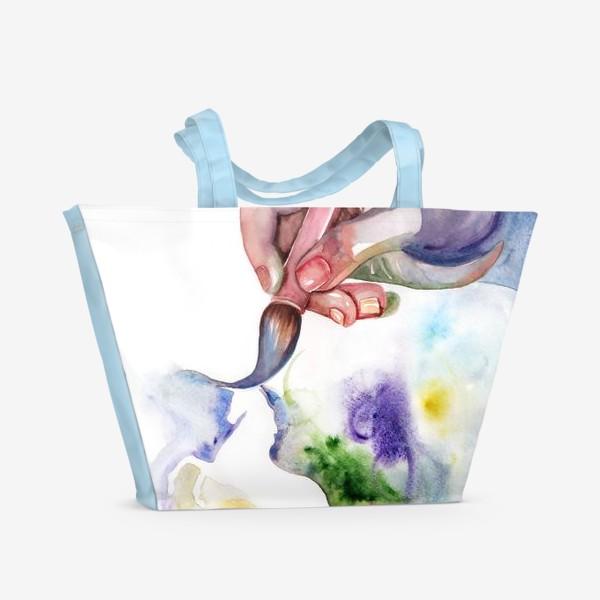 Пляжная сумка «Рука творчества»