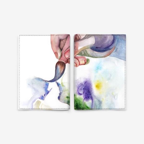 Обложка для паспорта «Рука творчества»