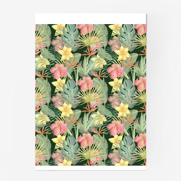 Постер «Тропический лес. Листья и цветы джунглей»