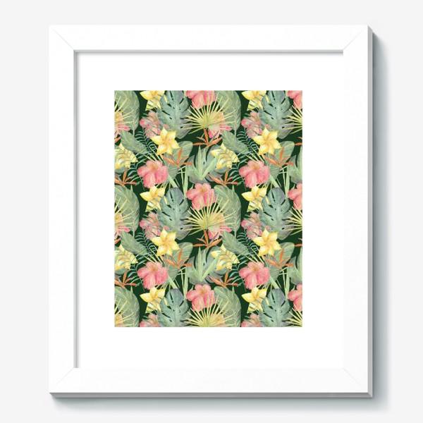 Картина «Тропический лес. Листья и цветы джунглей»