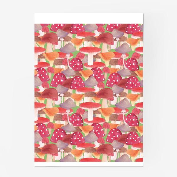 Постер «Грибной лес. Поляна грибов»