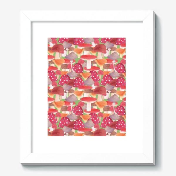 Картина «Грибной лес. Поляна грибов»