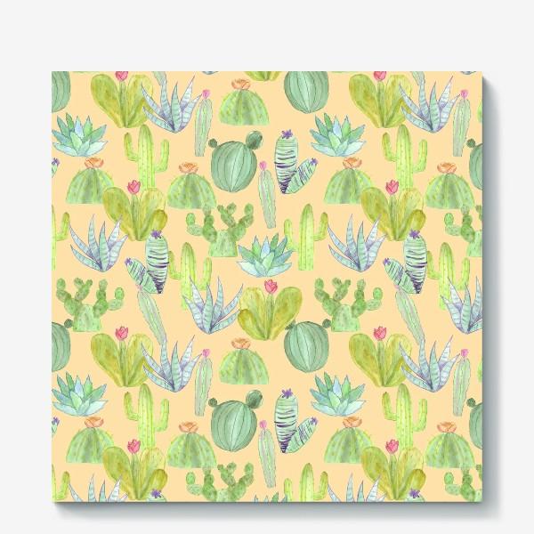 Холст «Кактусовый лес. Пустыня кактусов»