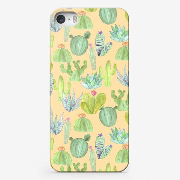 Чехол iPhone «Кактусовый лес. Пустыня кактусов»