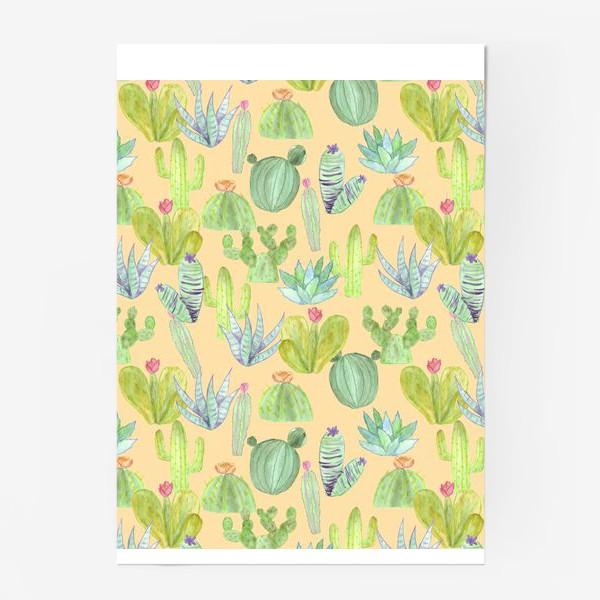 Постер «Кактусовый лес. Пустыня кактусов»