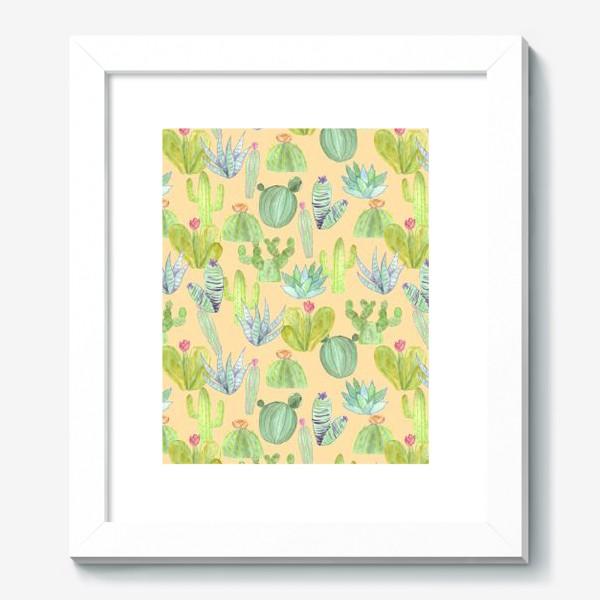 Картина «Кактусовый лес. Пустыня кактусов»