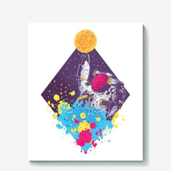 Холст «Абстрактный астронавт»