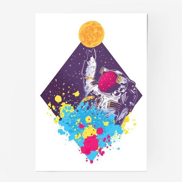 Постер «Абстрактный астронавт»