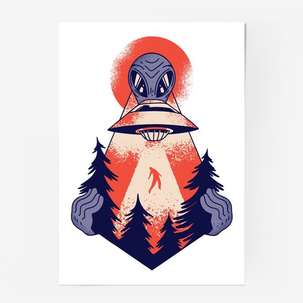 Постер «Похищение пришельцами»