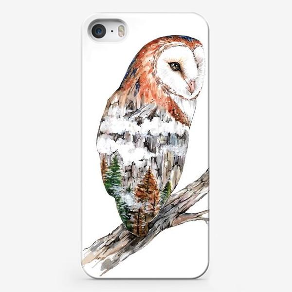 Чехол iPhone «Дыхание природы. Сова сипуха»
