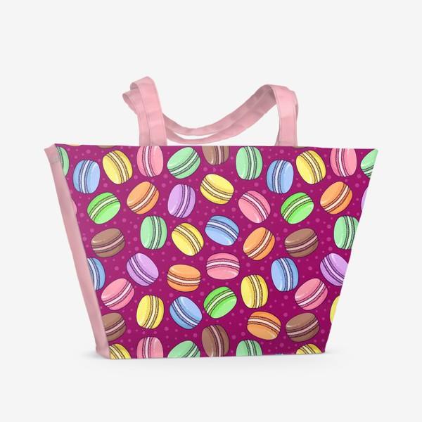 Пляжная сумка «Сладкие макаруны»