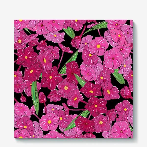 Холст «цветы флоксы»