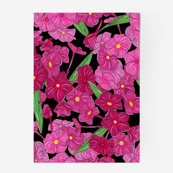 Постер «цветы флоксы»