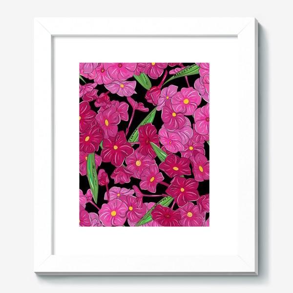 Картина «цветы флоксы»