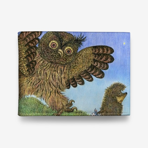 Кошелек «Ежик в тумане и сова»