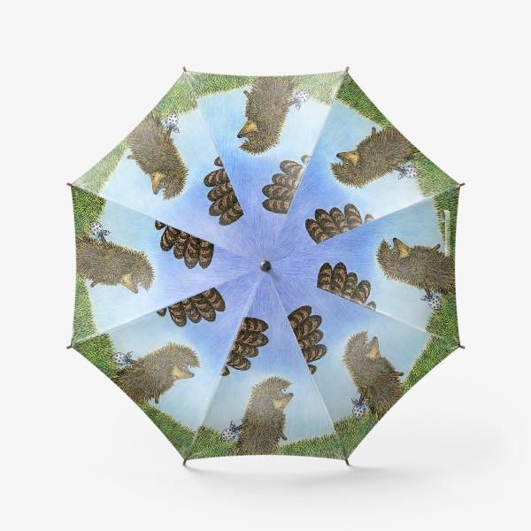 Зонт «Ежик в тумане и сова»