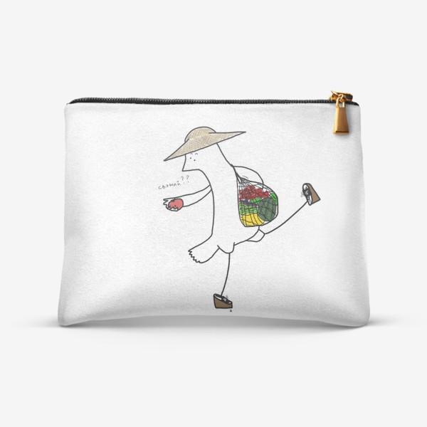 Косметичка «Птица на летнем рынке»