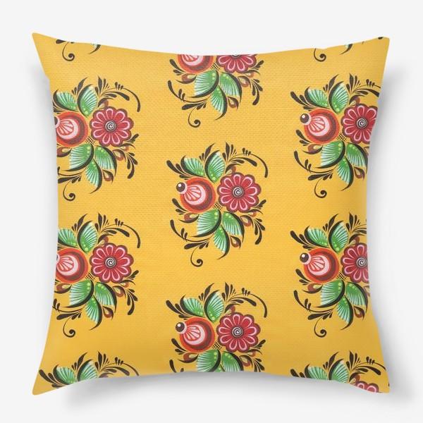 Подушка «Городецкие цветы»