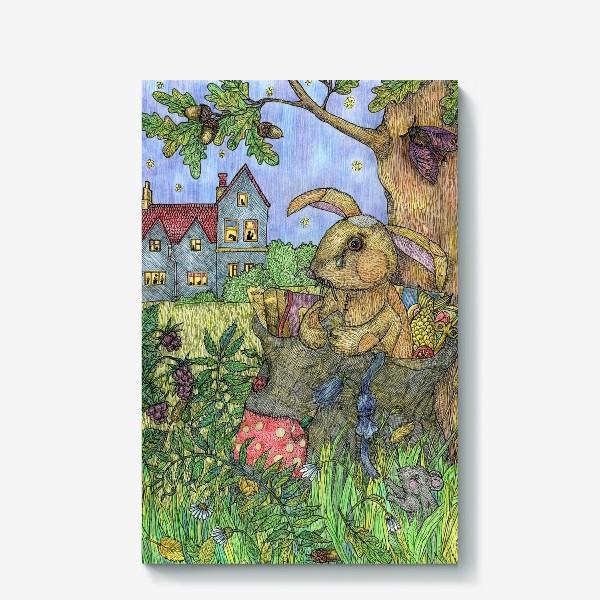 Холст «Плюшевый кролик»