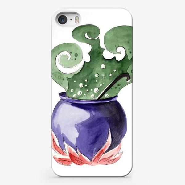 Чехол iPhone «Котел с магическим зельем на Хэллоуин »