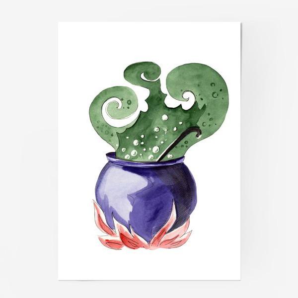 Постер «Котел с магическим зельем на Хэллоуин »