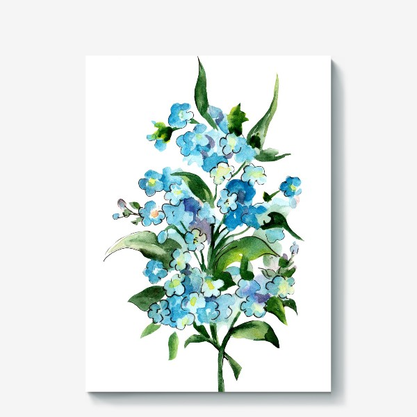 Холст «Букет синих цветов»
