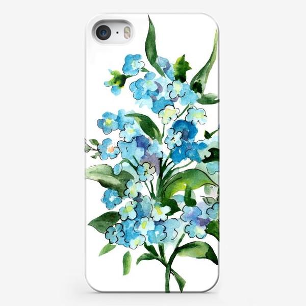 Чехол iPhone «Букет синих цветов»