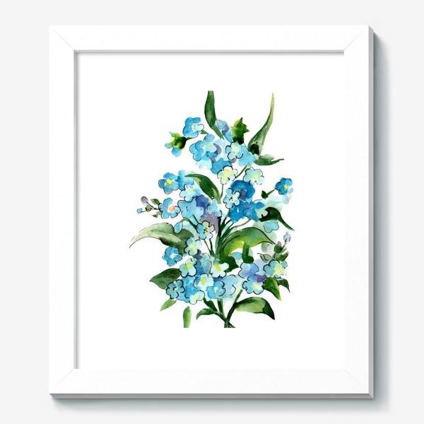 Картина «Букет синих цветов»
