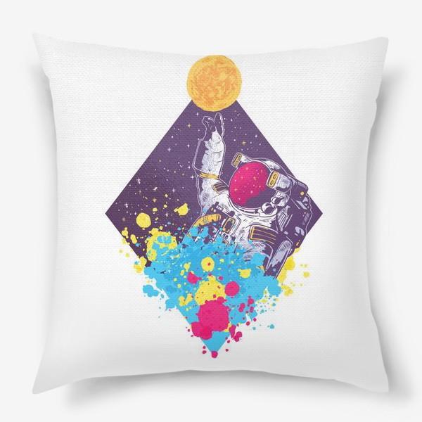 Подушка «Абстрактный астронавт»