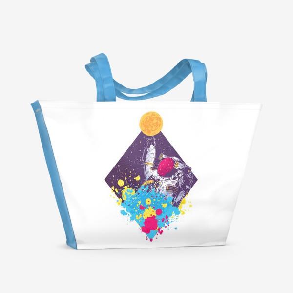 Пляжная сумка «Абстрактный астронавт»