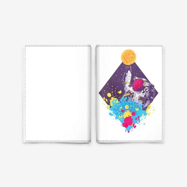 Обложка для паспорта «Абстрактный астронавт»