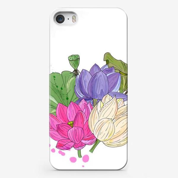 Чехол iPhone «букет лотосов»