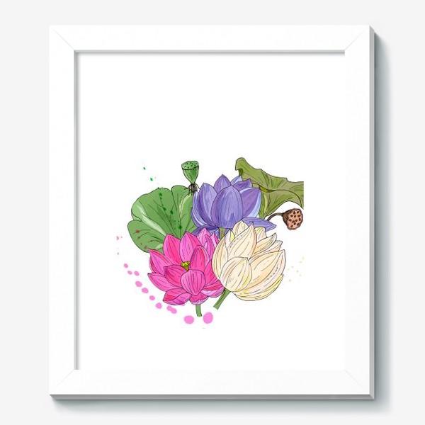 Картина «букет лотосов»
