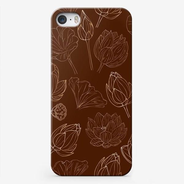 Чехол iPhone «золотые лотосы»