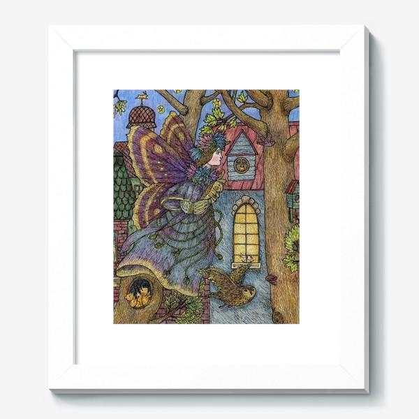 Картина «Фея и плюшевый кролик»