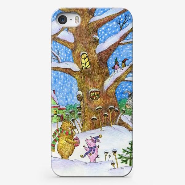 Чехол iPhone «Винни-Пух, Пяточок и ослик Иа-иа »