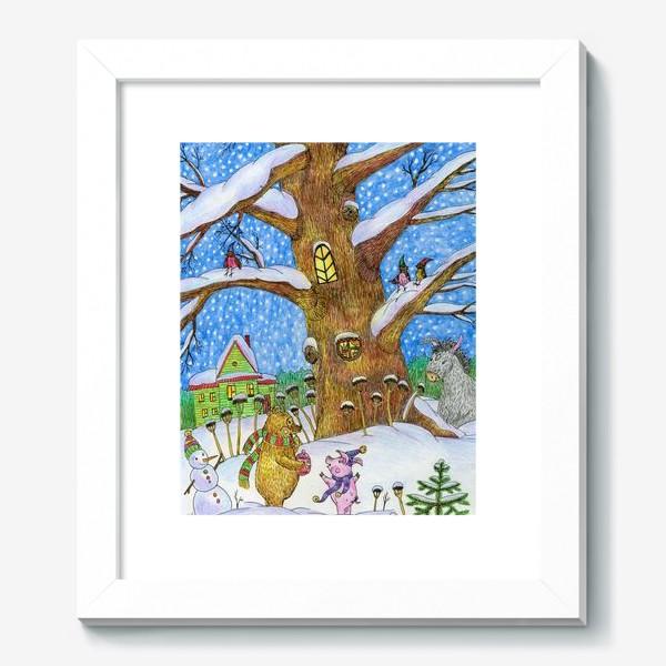 Картина «Винни-Пух, Пяточок и ослик Иа-иа »