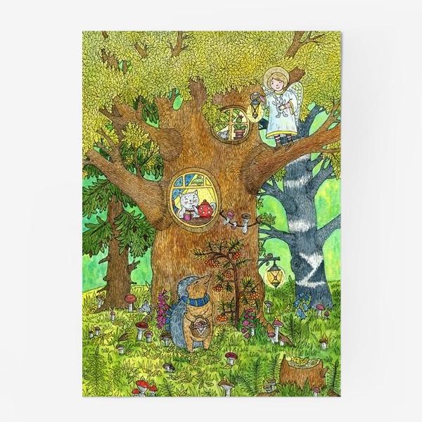 Постер «Маленький ежик в волшебном лесу»