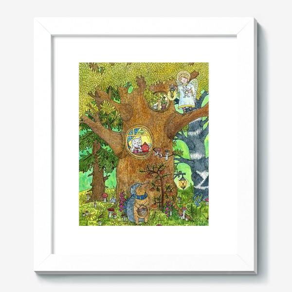 Картина «Маленький ежик в волшебном лесу»