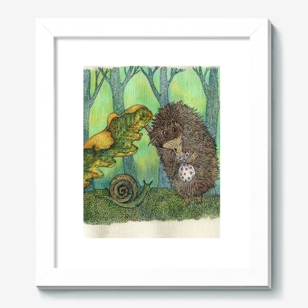 Картина «Ежик и улитка»