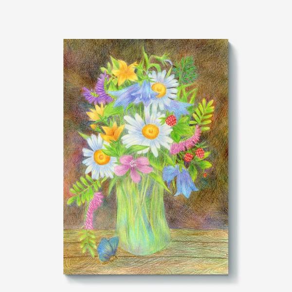 Холст «Букет полевых цветов »