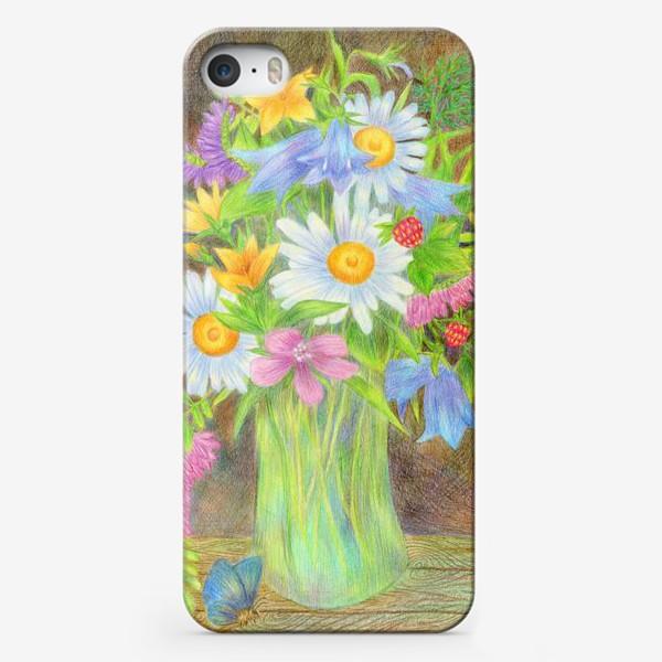 Чехол iPhone «Букет полевых цветов »