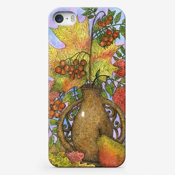 Чехол iPhone «Осенний букет из листьев и ягод»