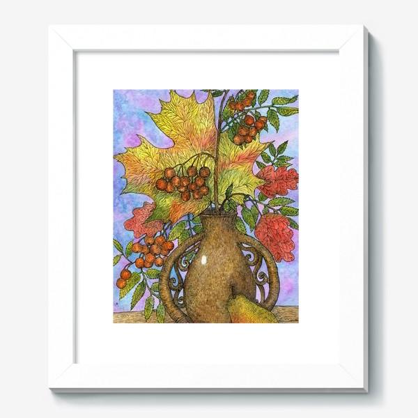Картина «Осенний букет из листьев и ягод»