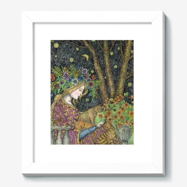 Картина «Лесная нимфа и котики»